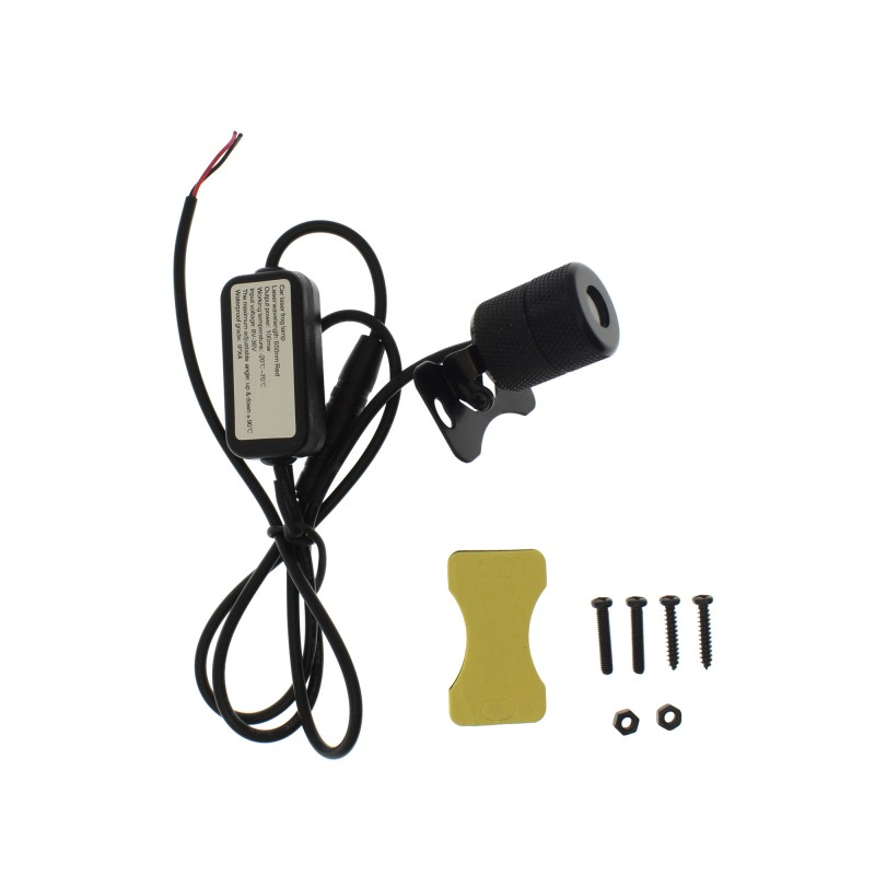 Βοηθητικό laser φως ομίχλης 8-36V 200mW με 6 σχέδια IPX4 OEM