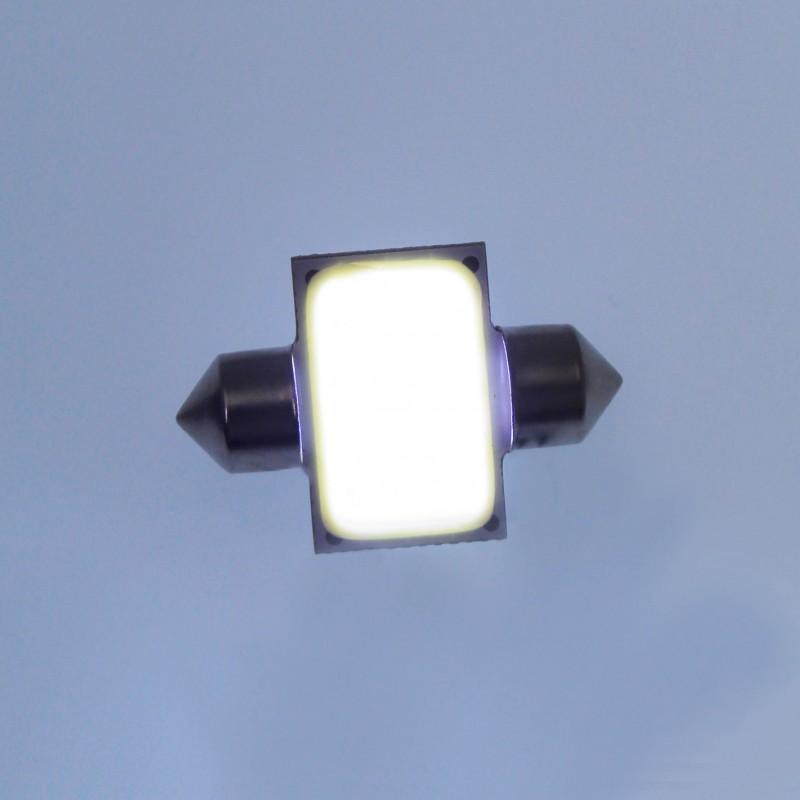 LED λαμπτήρας πλαφονιέρας (σωλήνας) 31mm 12V 1 COB 6500K ψυχρό λευκό 1 τεμ. OEM