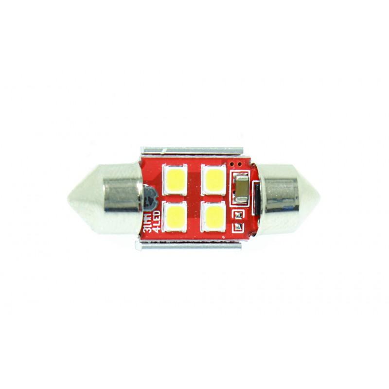 C5W LED πλαφονιέρας (σωλήνας) 31mm 4 SMD 12V cool white 1 τεμ. OEM