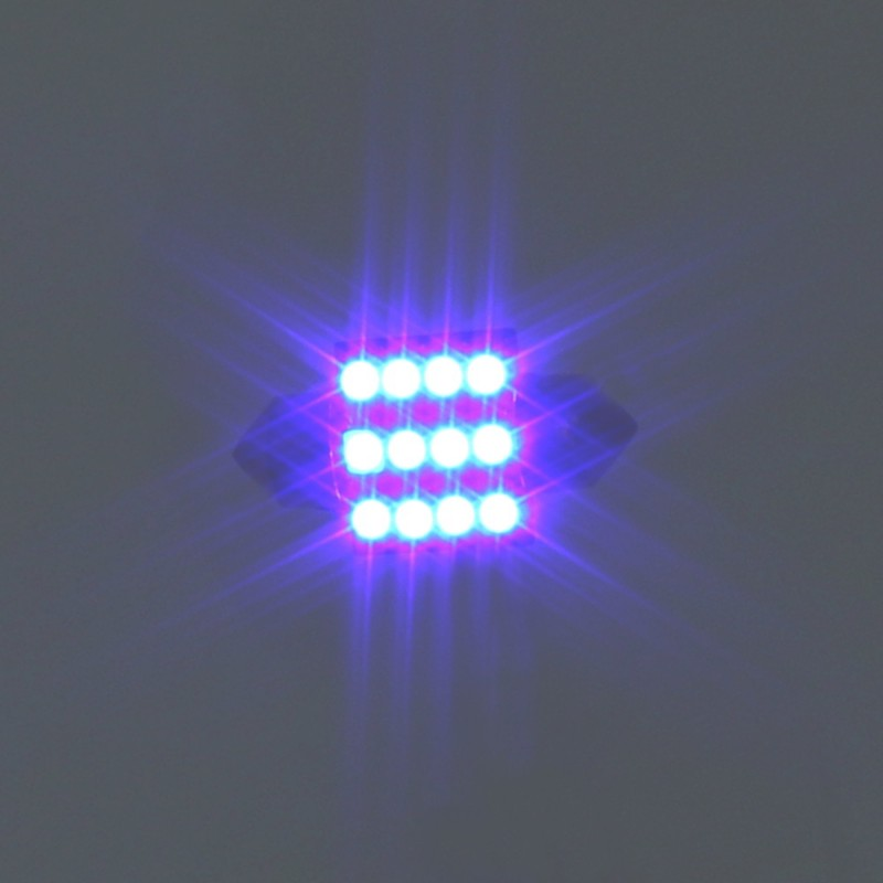 LED λαμπτήρας πλαφονιέρας (σωλήνας) 31mm C5W 12V 12 SMD 7500K μπλε 1 τεμ. OEM