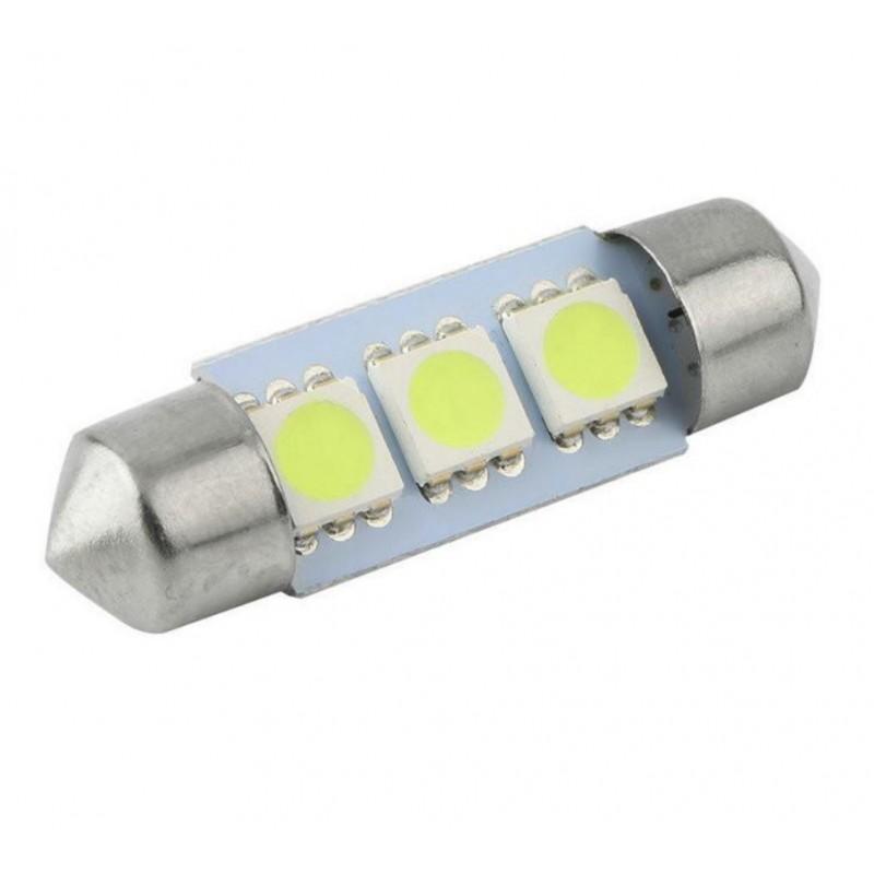 C5W LED λαμπτήρας πλαφονιέρας (σωλήνας) 36mm 3 SMD cool white 1 τεμ. OEM 36mm ee1527