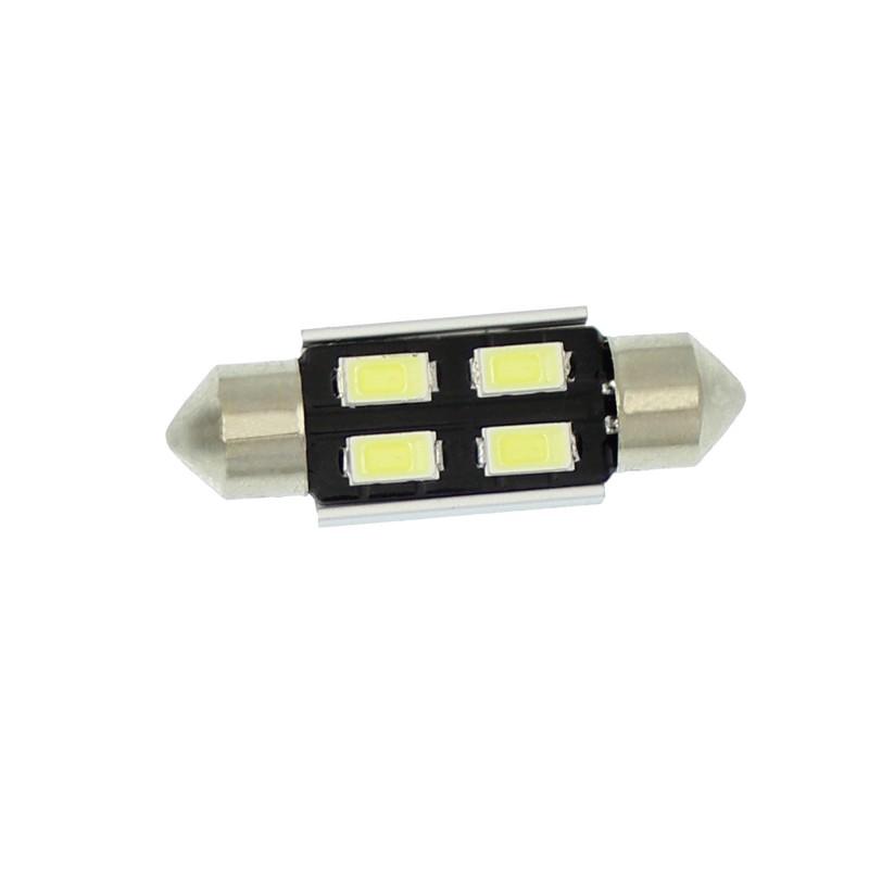 C5W LED Canbus πλαφονιέρας (σωλήνας) 36mm 12V 4 SMD ψυχρό λευκό 6000K 1 τεμ. ΟΕΜ