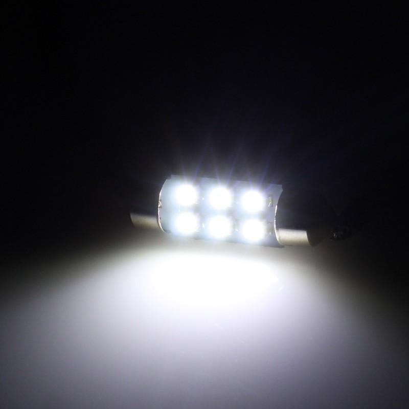 C5W LED λαμπτήρας πλαφονιέρας (σωλήνας) 36mm 12V 6 SMD ψυχρό λευκό 6500K 1 τεμ. OEM