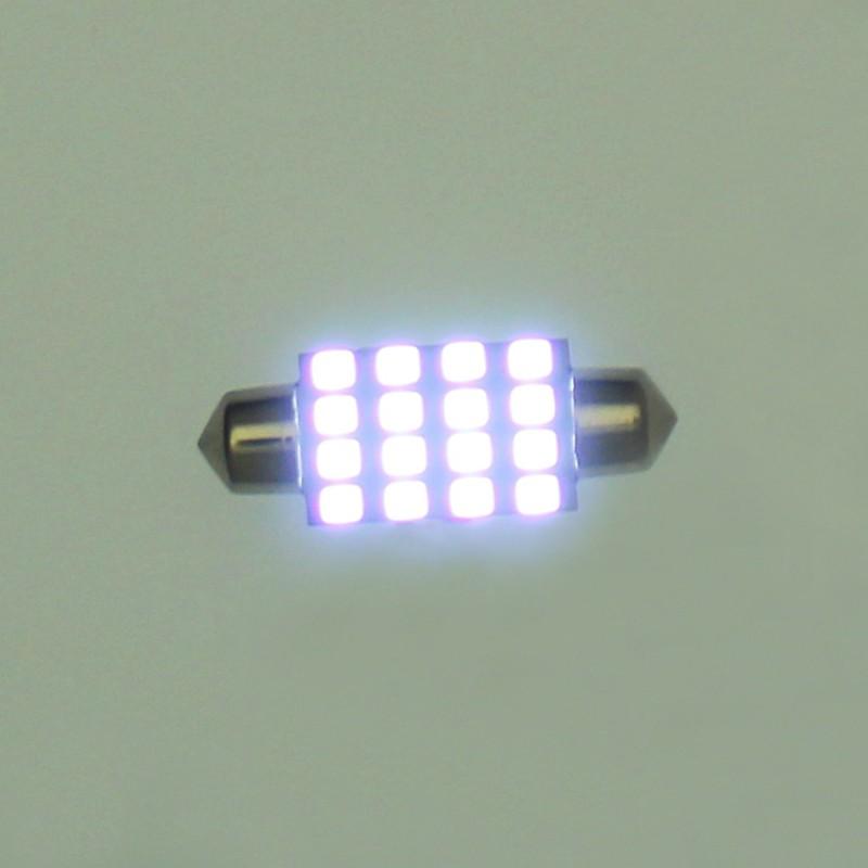 LED λαμπτήρας πλαφονιέρας (σωλήνας) 39mm C5W 16 SMD 6000K ψυχρό λευκό 1 τεμ. ΟΕΜ