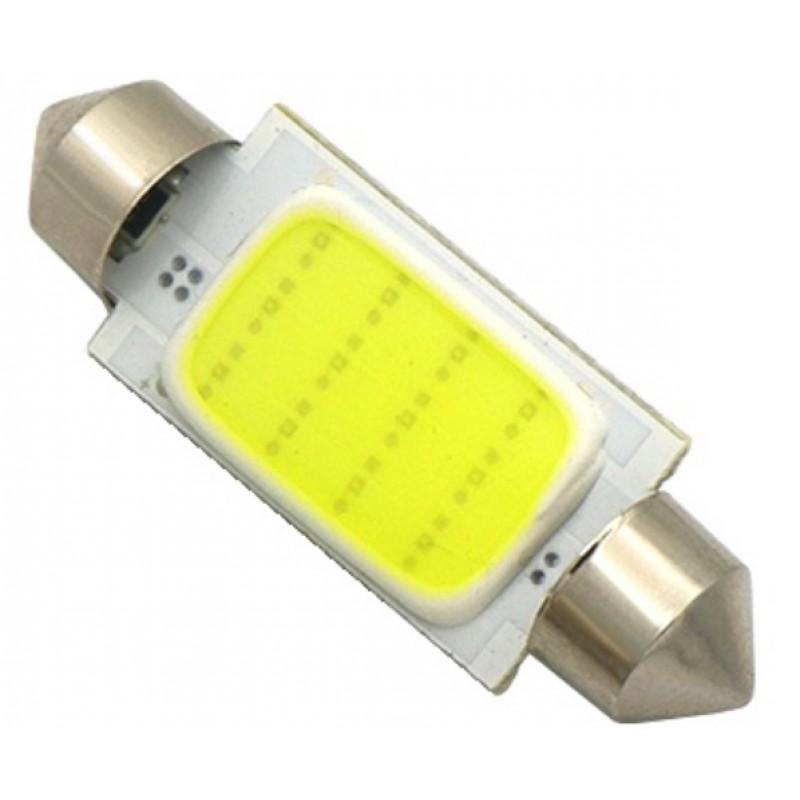 C5W LED λαμπτήρας πλαφονιέρας 41mm 12V cool white COB 1.5W 150 lumens OEM