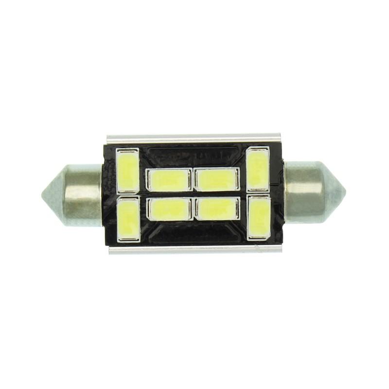 C5W LED Canbus πλαφονιέρας (σωλήνας) 41mm 12V 8 SMD ψυχρό λευκό 1 τεμ. ΟΕΜ