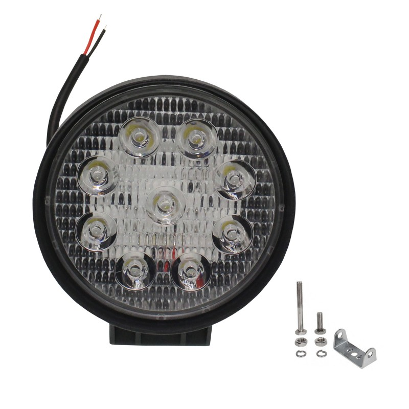 LED αδιάβροχος προβολέας διασποράς 11.3cm διάμετρος 27W 9 SMD 9-36V 2200LM 6500K IP67 για βάρκες τρακτέρ φορτηγά αυτοκίνητα OEM
