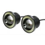 2 x Universal fog φώτα ομίχλης LED COB Angel Eyes  λευκό Chip 3.5 ίντσες 89mm R500 IP65 OEM