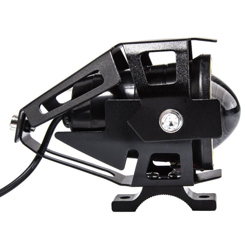 Αδιάβροχος προβολέας μοτοσυκλέτας 2.50 ίντσες Cree LED U7 Angel Eye με λευκό φως στεφάνης μαύρου χρώματος 1 τεμ. IP67 OEM Προβολείς ee1672
