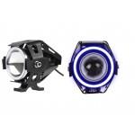 Αδιάβροχος προβολέας μοτοσυκλέτας 2.50 ίντσες Cree LED U7 Angel Eye με μπλέ φώς στεφάνης 1 τεμ. IP67 OEM Προβολείς ee1785