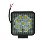 LED αδιάβροχος προβολέας διασποράς 11 cm 27W 9 SMD 12V/24V 2430LM 6000K IP67 για βάρκες τρακτέρ φορτηγά αυτοκίνητα OEM