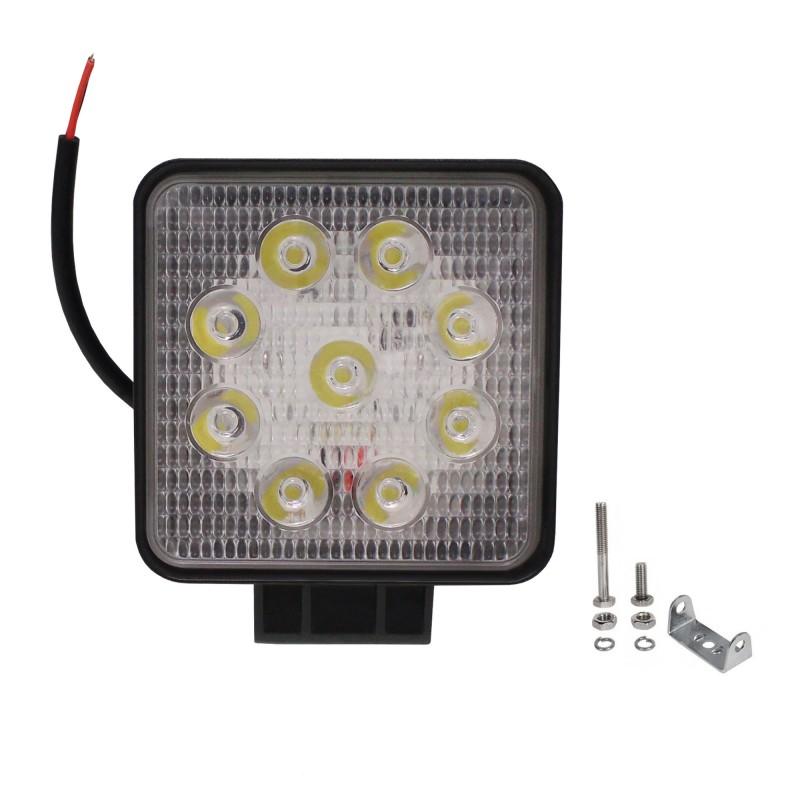 LED αδιάβροχος προβολέας διασποράς 11 cm 27W 9 SMD 9-36V 2200LM 6500K IP67 για βάρκες τρακτέρ φορτηγά αυτοκίνητα OEM