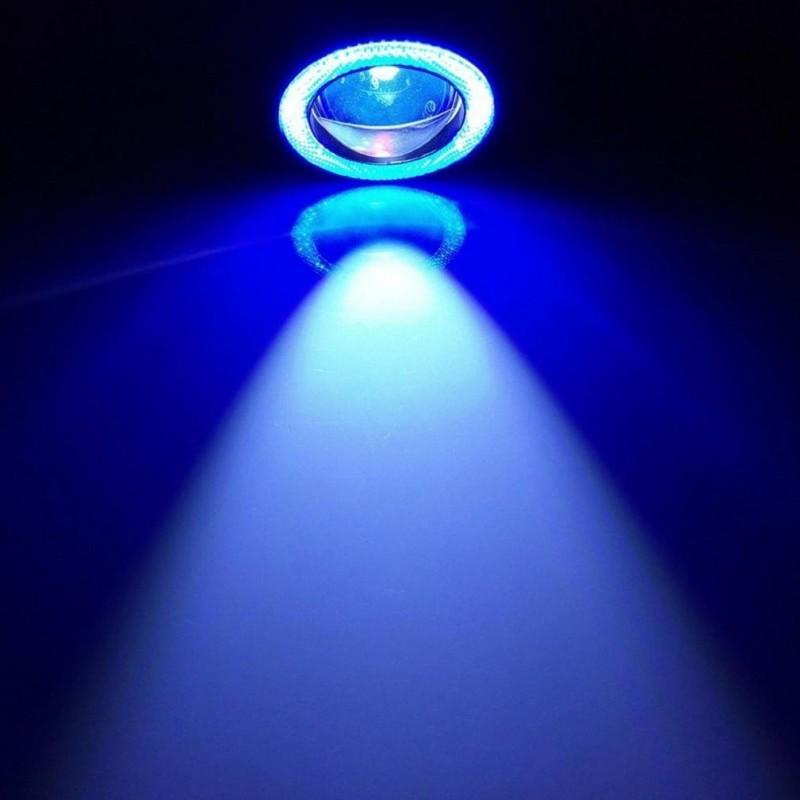 2 Χ Universal fog φώτα ομίχλης LED COB Angel Eyes 2.5 ίντσες 64mm μπλε στεφάνη IP65 OEM Προβολείς ee2995
