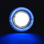 2 Χ Universal fog φώτα ομίχλης LED COB Angel Eyes 3.5 ίντσες 89mm μπλε στεφάνη IP65 OEM Προβολείς ee2997