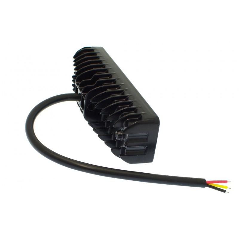 LED αδιάβροχος προβολέας μπάρα διασποράς με 12 λειτουργίες 14.6 cm 48W 16 SMD 12V/24V 4320LM 6000K-3000K IP67 για βάρκες φορτηγά αυτοκίνητα OEM