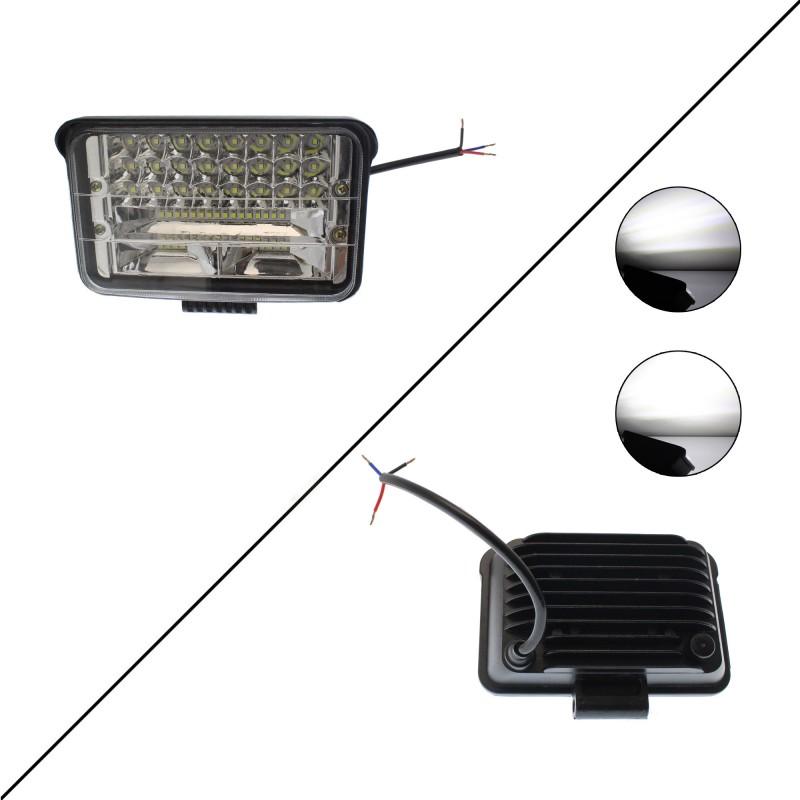 LED αδιάβροχος προβολέας κατευθυντικός 17 cm 72W 48 SMD 12V/24V 6480LM 6000K IP67 για βάρκες τρακτέρ φορτηγά αυτοκίνητα OEM