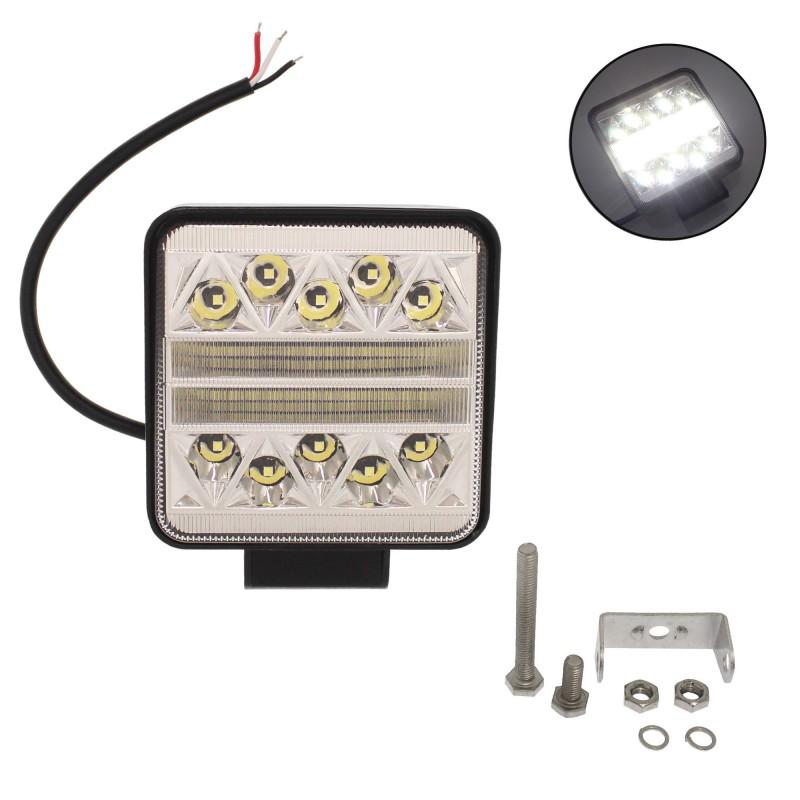 Αδιάβροχος προβολέας LED combo με 2 λειτουργίες 10.6cm 102W 12 SMD 9-36V 10200LM 6000K IP67 για βάρκες/τρακτέρ/φορτηγά/αυτοκίνητα OEM