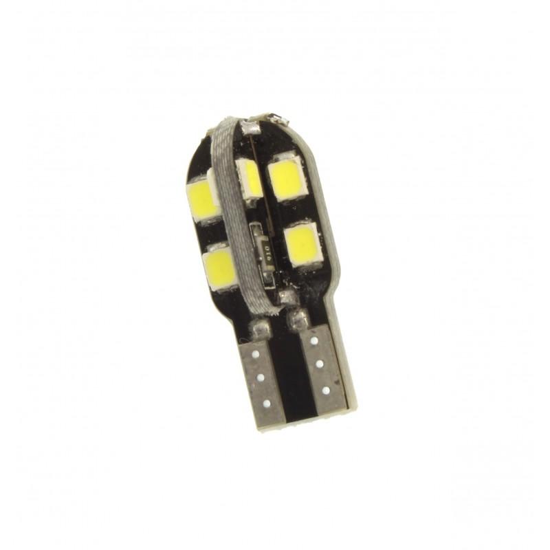 T10 LED 12V 12 SMD 2835 6000K λευκό 1 τεμ. YN-LED04