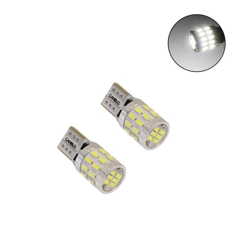 T10 12/24V 30 SMD 3014 LED Canbus 700LM 5W ψυχρό λευκό 6000Κ 2 τεμάχια A620-W-T10-2