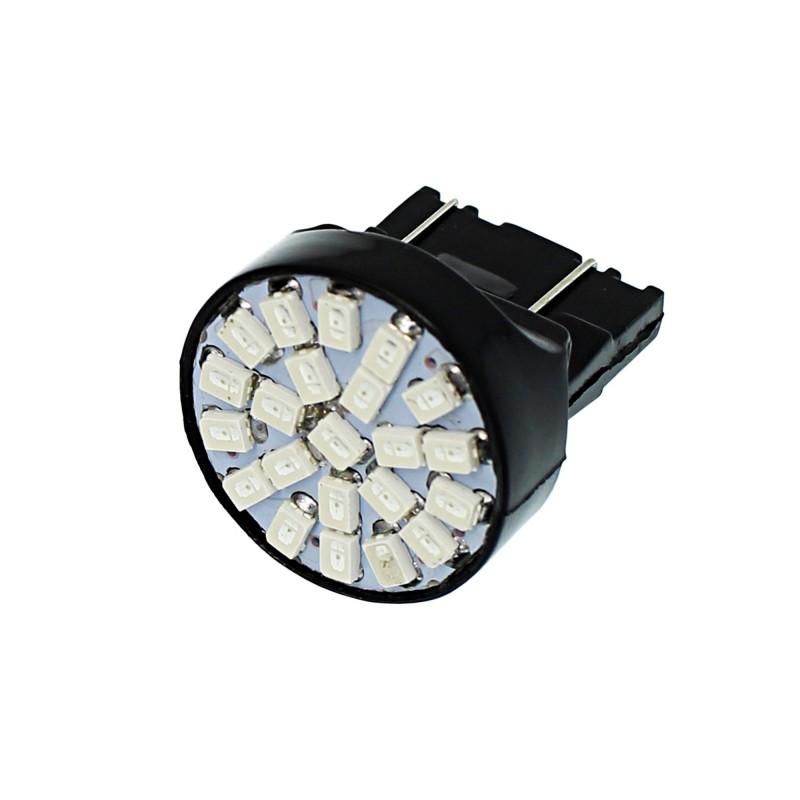 T20 διπολική  22 SMD 3020 LED 7440 Car Brake Tail Turn Signal Lamp Blub μπλε