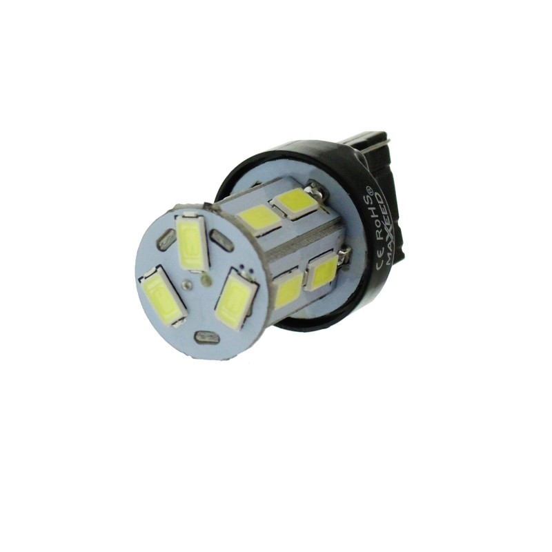 T20 LED μονοπολική 13 SMD 12V 6000K ψυχρό λευκό 1 τεμάχιο MAXEED ΟΕΜ