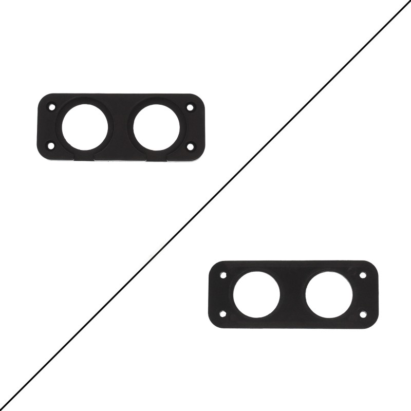Βάση πάνελ αυτοκινήτου με 2 θέσεις για βολτόμετρο και USB φορτιστή ΟΕΜ