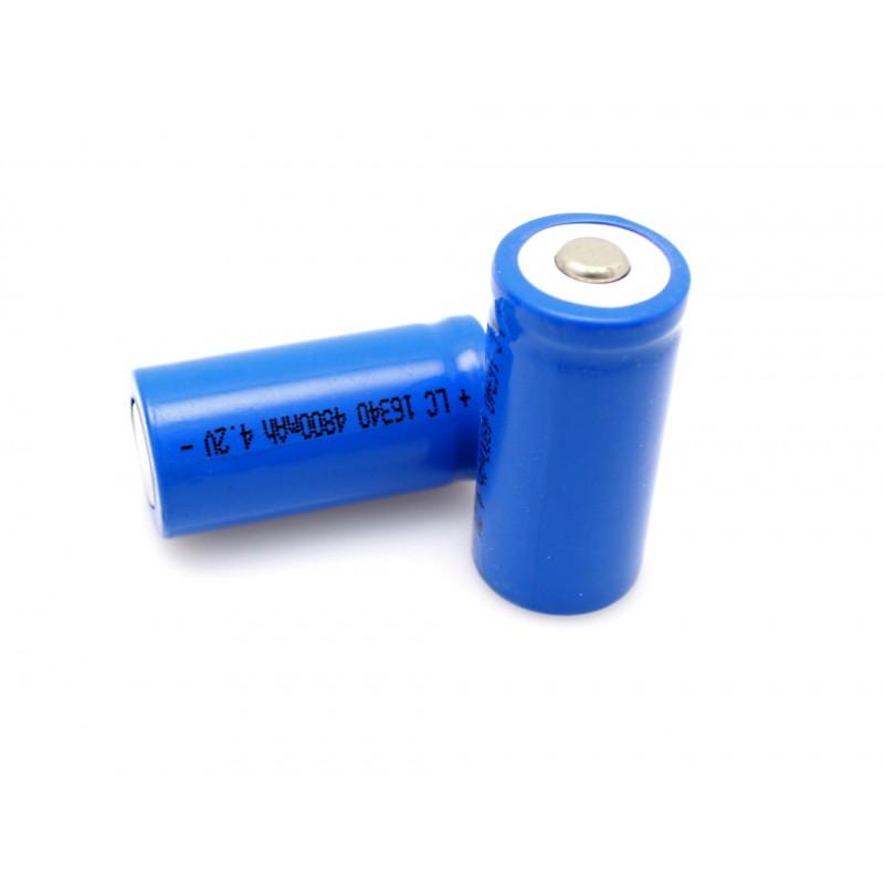 16340 Li-ion 4.2V επαναφορτιζόμενη μπαταρία 480mAh 1 τεμ. ΟΕΜ
