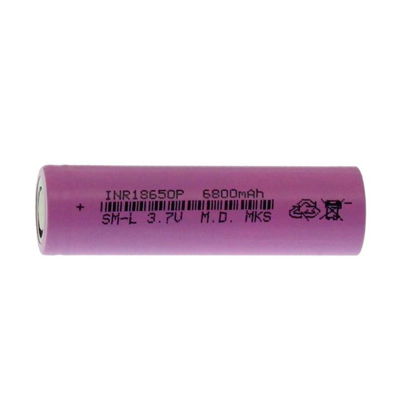 Επαναφορτιζόμενη μπαταρία 1 τεμάχιο τύπου 18650 Li-Ion 3.7V 2800mAh με επίπεδη κεφαλή ΟΕΜ