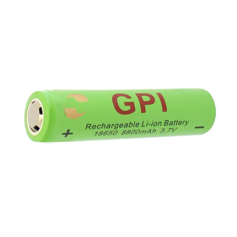 Επαναφορτιζόμενη μπαταρία 1 τεμάχιο τύπου 18650 Li-ion 3.7V 3500mAh GPI OEM