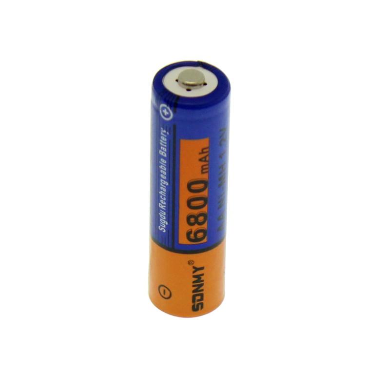 Επαναφορτιζόμενη μπαταρία 1 τεμάχιο τύπου ΑΑ Ni-MH 1.2V 6800mAh SDNMY