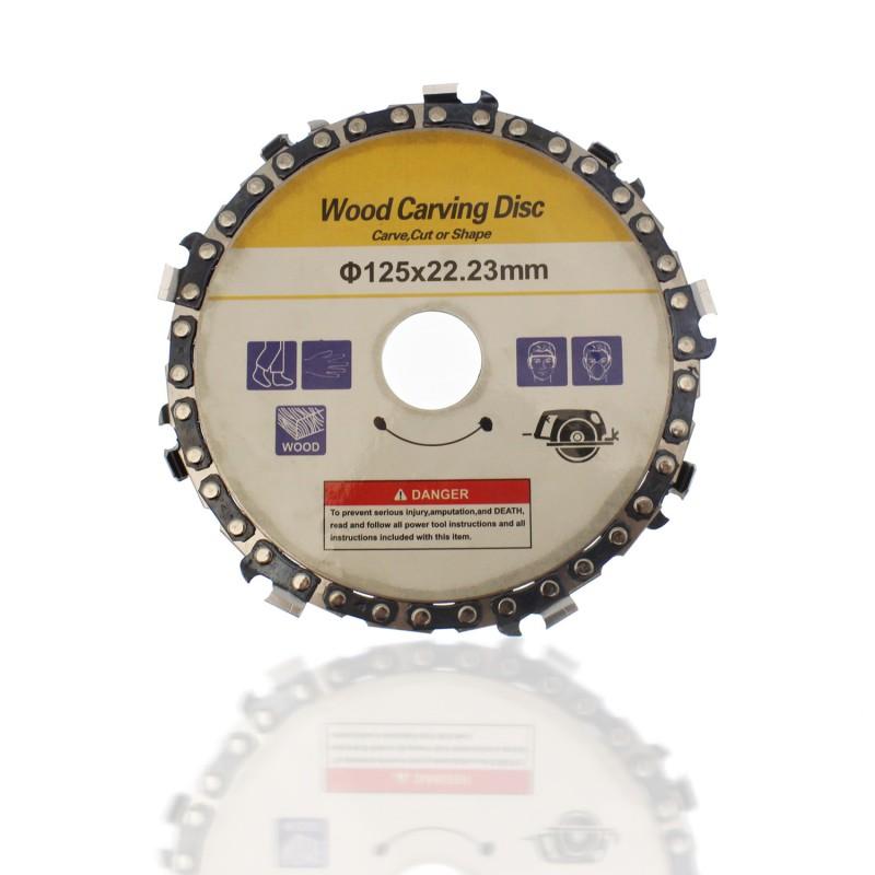 Δίσκος κοπής και λείανσης ξύλου 125x22.23mm με 9 λεπίδες OEM
