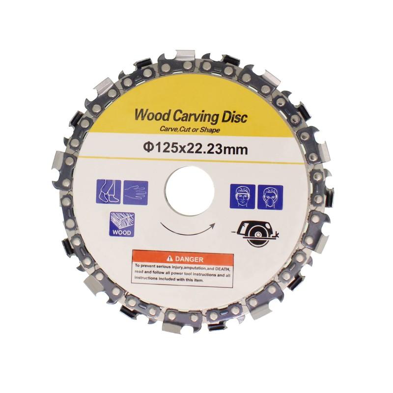Δίσκος κοπής και λείανσης ξύλου 125x22.23mm με 18 λεπίδες OEM