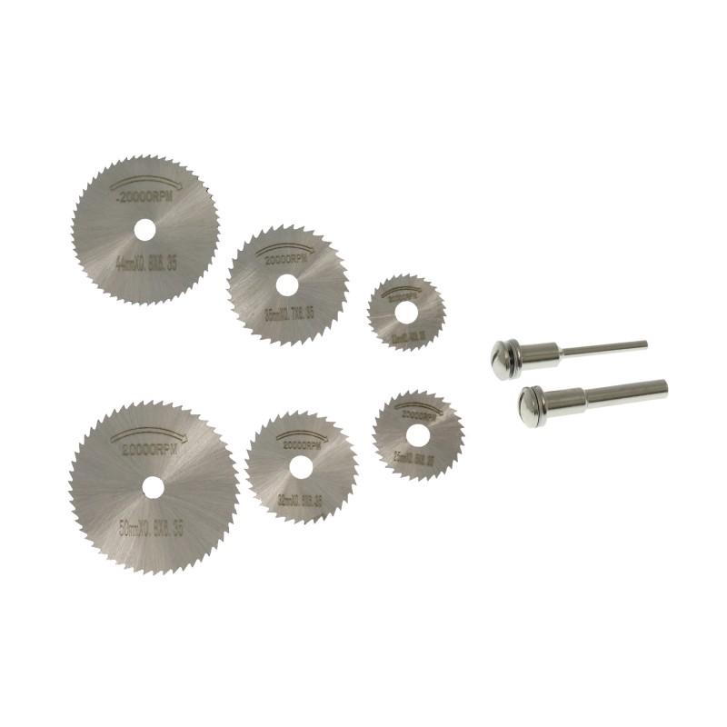 Δίσκοι κοπής μικροί σετ 8 τεμάχια με 2 στελέχη OEM
