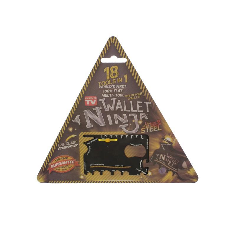 18 σε 1 πολυεργαλείο πορτοφολιού σε σχήμα κάρτας-Wallet ninja