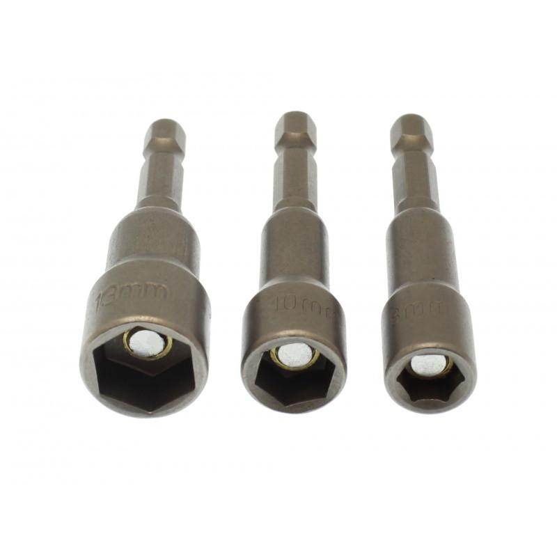 Σετ καρυδάκια 65mm 3τεμ (8mm/10mm/13mm) OEM Καρυδάκια - Μύτες ee1978