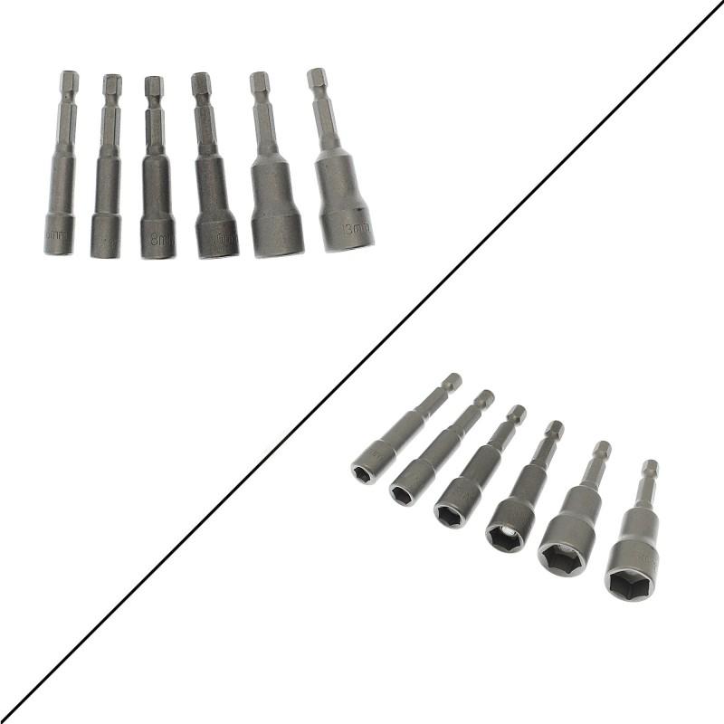 Σετ καρυδάκια με μαγνήτη 65mm 6τεμ (6mm/7mm/8mm/10mm/12mm/13mm) OZS-9080 REAL OZS