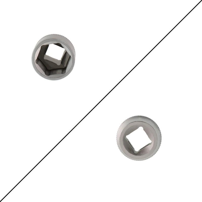 """Σετ εξάγωνα καρυδάκια επιχρωμιωμένου βαναδίου 3 τεμαχίων 3/8"""" 15mm, 16mm και 17mm ΟΕΜ"""
