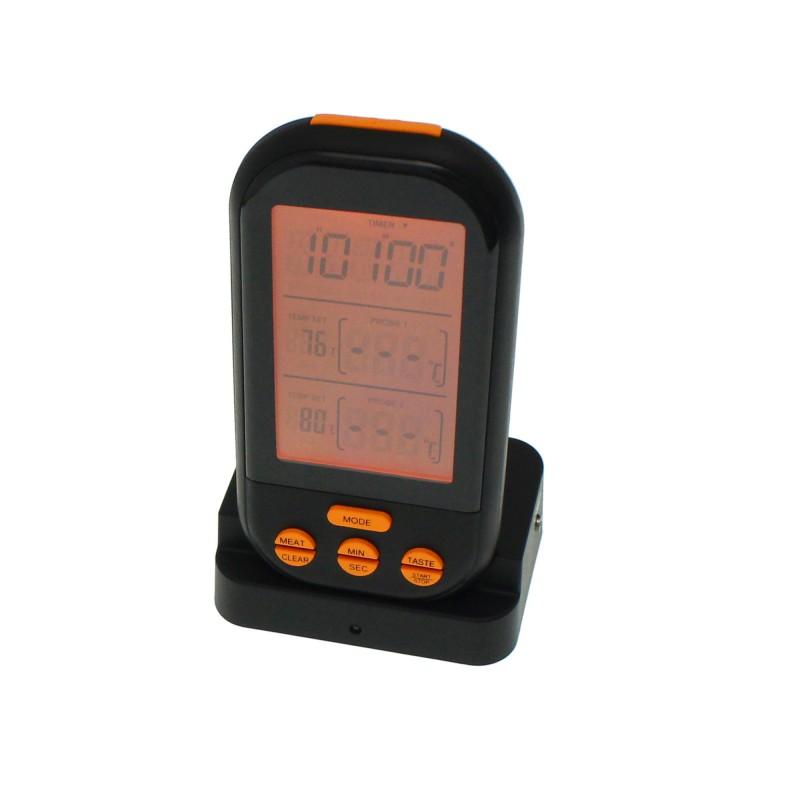 Ασύρματο Ψηφιακό Θερμόμετρο Κρέατος με 2 probes IPX7 OEM
