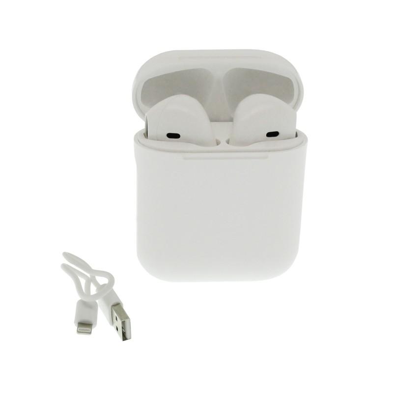 Ασύρματα επαναφορτιζόμενα ακουστικά Βluetooth V5.0 με βάση φόρτισης λευκά Μ16 ΟΕΜ