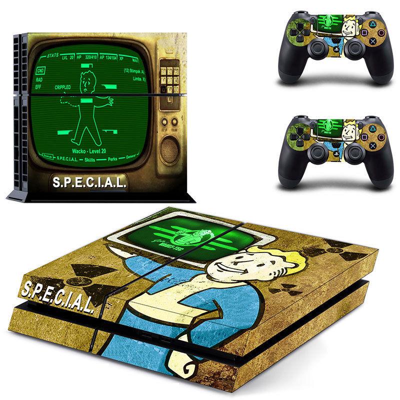 Αυτοκόλλητο κονσόλας Fallout 4 Boy και δυο controller PS4 OEM Αυτοκόλλητα ee2291