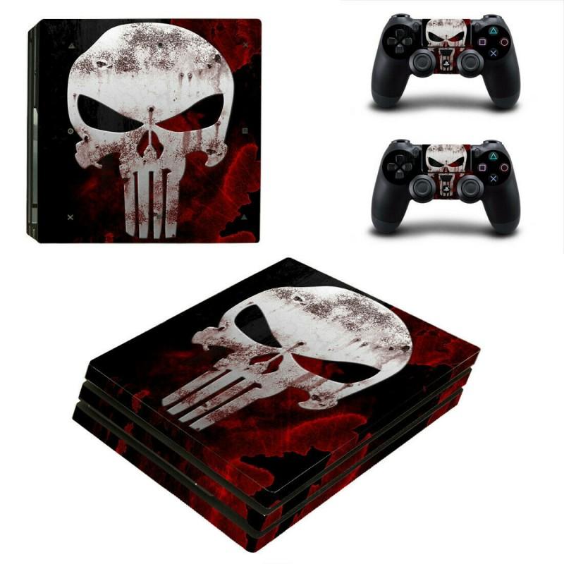 Αυτοκόλλητο κονσόλας Punisher και δυο controller PS4 PRO OEM Αυτοκόλλητα ee3380
