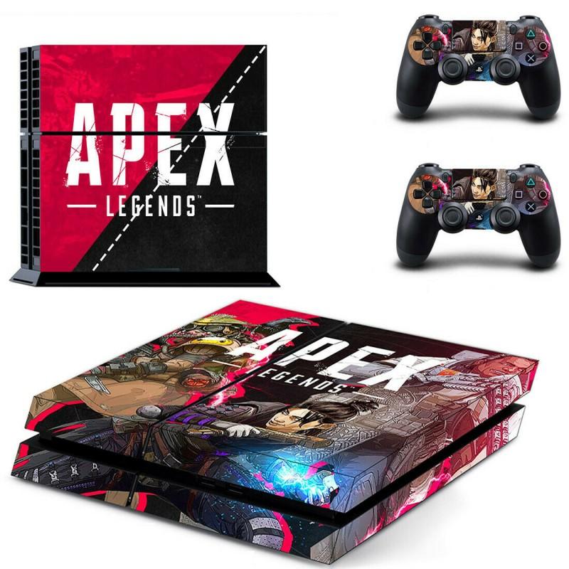 Αυτοκόλλητο κονσόλας Apex Legends Wraith και δυο controller PS4 OEM Αυτοκόλλητα ee3395