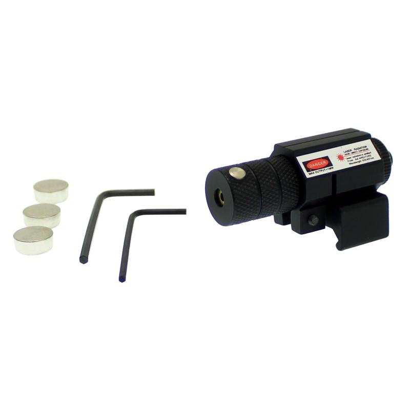 Σκόπευτρο για ράγες όπλου laser για στόχευση και σκοποβολή με κόκκινη δέσμη μαύρο 21459 OEM