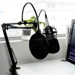Πυκνωτικό μικρόφωνο με ρυθμιζόμενη βάση στήριξης και Pop φίλτρο μαύρο BM-800 OEM