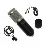 Πυκνωτικό μικρόφωνο με βάση αράχνη, αφρώδες αντιανέμιο και XLR υποδοχή μαύρο με ασημί BM800 OEM