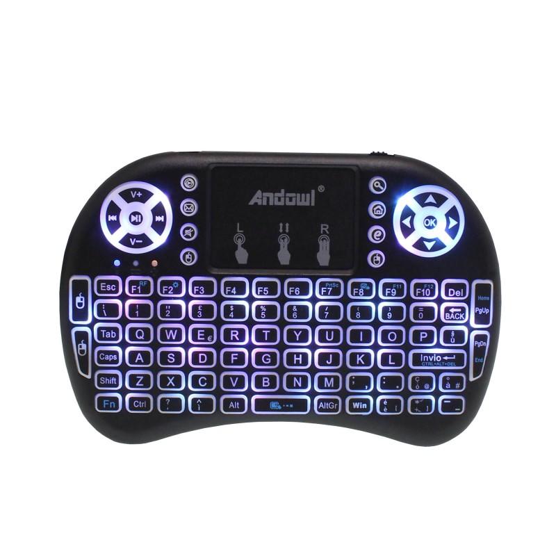 Mini ασύρματο πληκτρολόγιο touchpad RGB 2.4GHzAndowl QY-K07