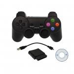 Ασύρματο χειριστήριο 2.4Ghz για PS2/PS3/PS1/PC με αντάπτορα USB και CD λογισμικού OEM