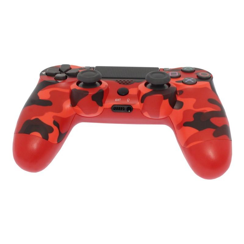 Ασύρματο χειριστήριο PS4 Doubleshock 4 camouflage κόκκινο OEM