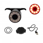 Πίσω φως ποδηλάτου LED επαναφορτιζόμενο USB IPX6 με 5 λειτουργίες και 7 χρώματα φωτισμού Antusi Q1