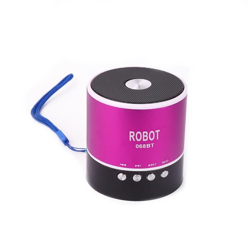 Φορητό Bluetooth ψηφιακό ραδιόφωνο - speaker usb / tf / line in / με εσωτερική μπαταρία Robot-068BT extra loud μωβ OEM Ραδιοφωνάκια ee1765